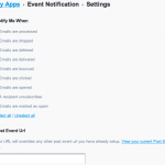 event notification settings