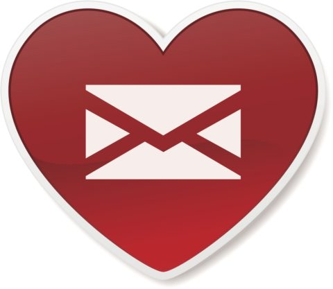 email heart