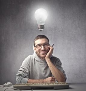 Developer with Lightbulb