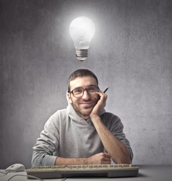 Developer with Lightbulb