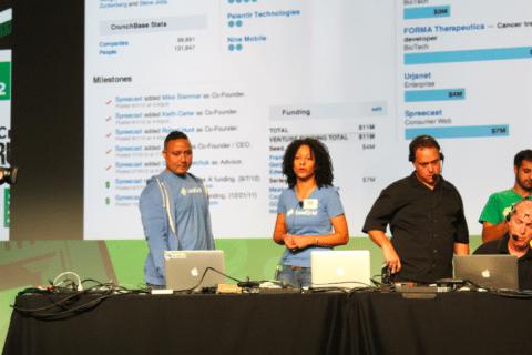 tcdisrupt hackathon sendgrid on stage presenting 1