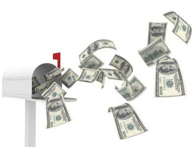 Money in Mailbox
