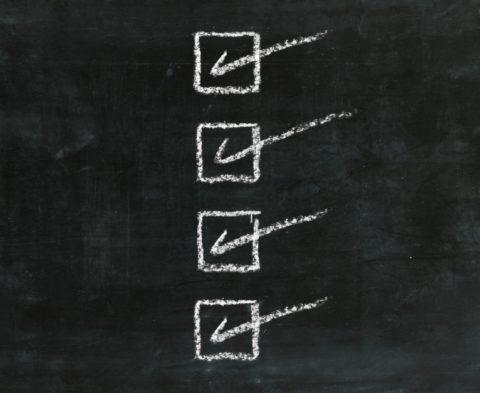 Blackboard-Checklist
