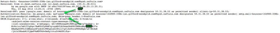 DKIMとSPFが適切に設定されていることを確認