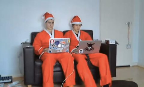 Two Hacking Santas