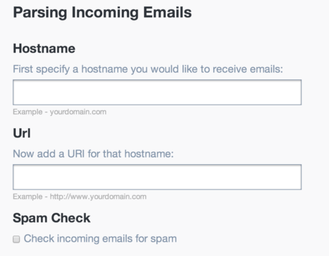 Parse Webhook settings