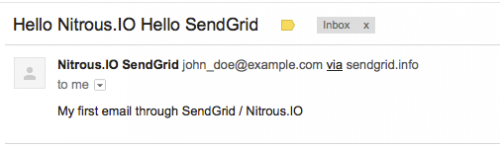 Your first email from SendGrid