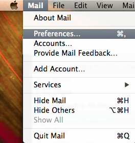Mail.app preferences