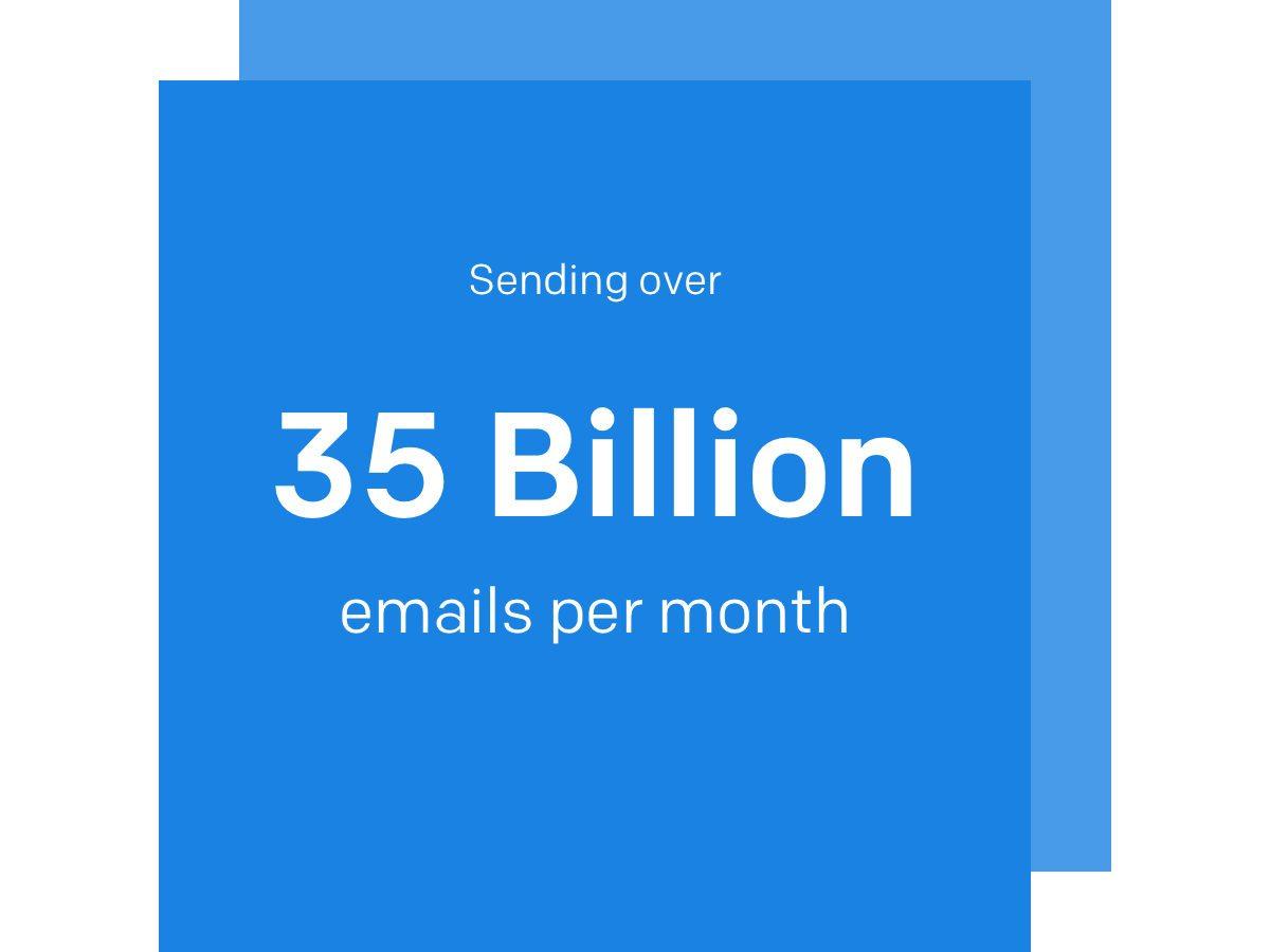 Sending over 25 billion emails per month