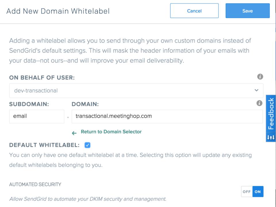 Domain Whitelabel