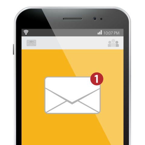 email on mobile device