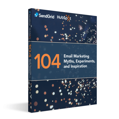 the cover of an email marketing guide