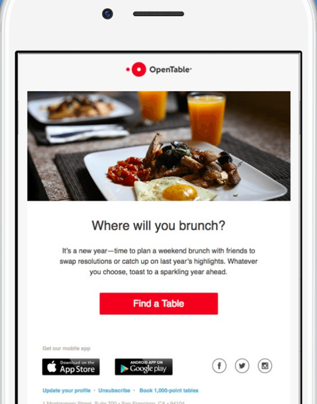 OpenTable example