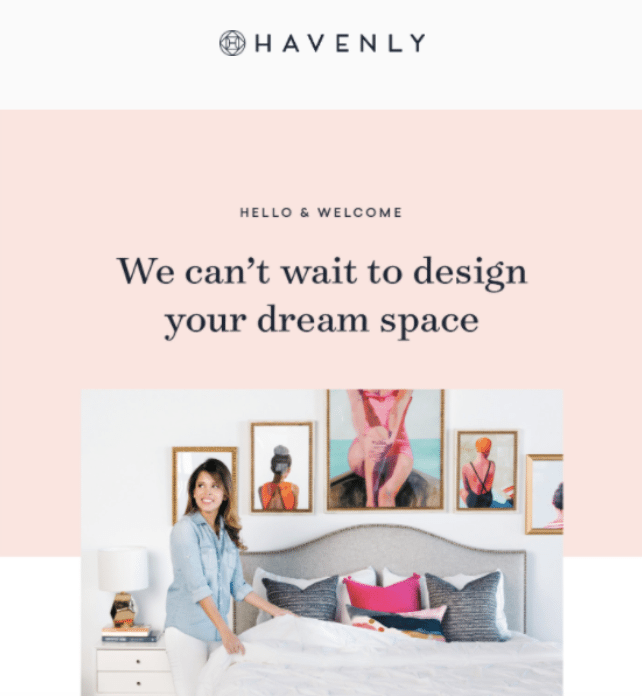 4 effective welcome email examples for inspiration sendgrid for Interior design email