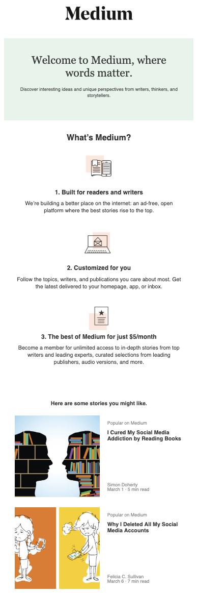 11 Effective Welcome Email Examples For Inspiration | SendGrid